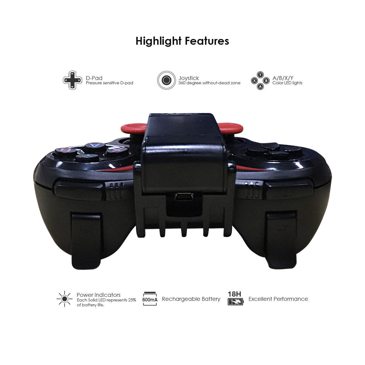 Bluetooth Wireless Game Controller Gamepad Joystick for Android Smart Phones