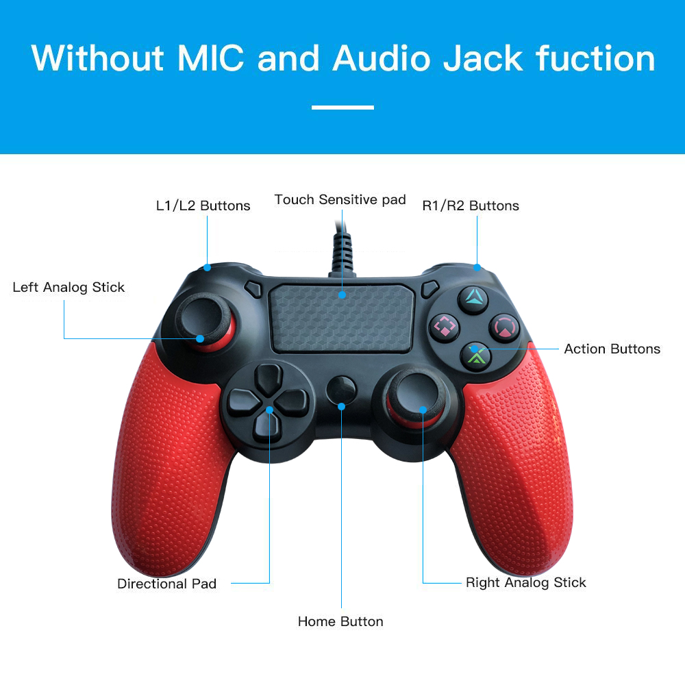 PS4  Wired Gaming Controller