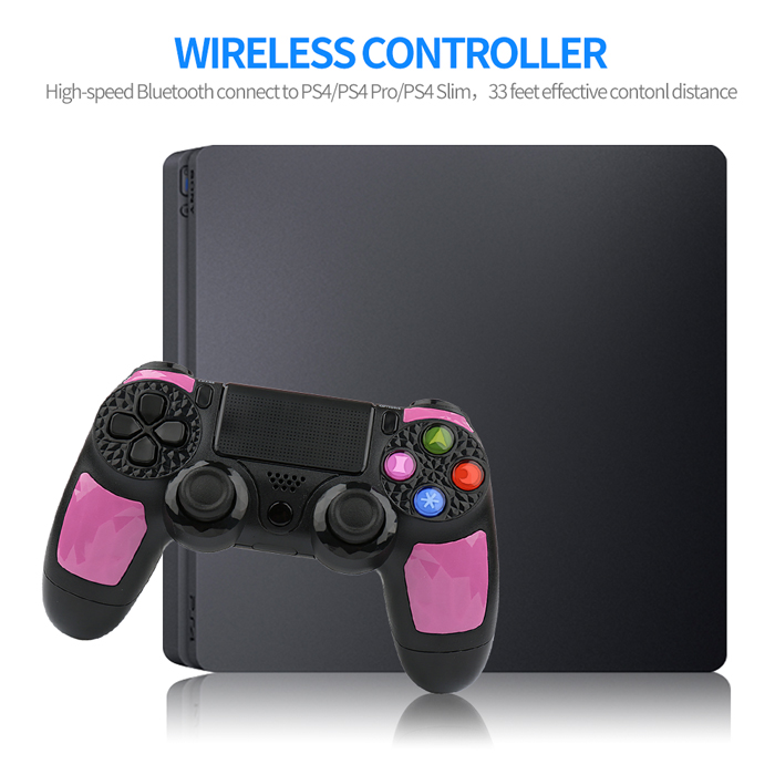 Pink Wireless PS4 Game Controller