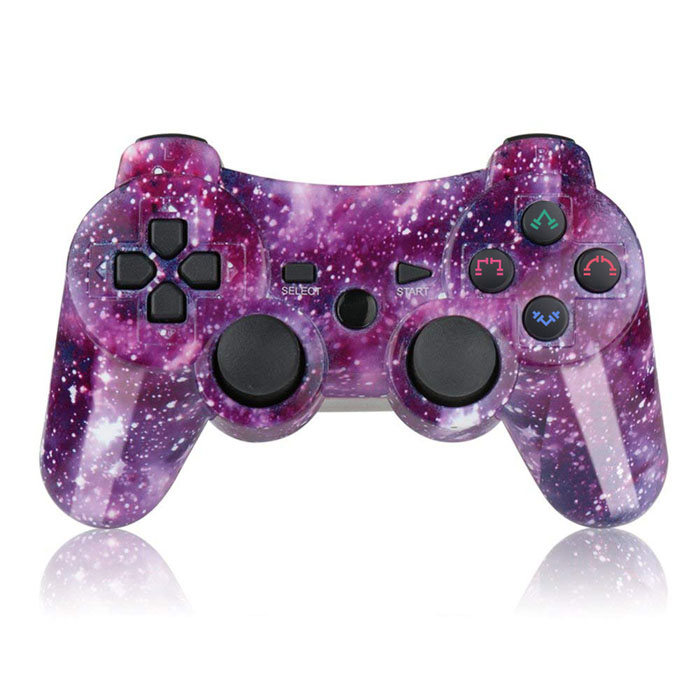 Wireless PS3 Game Controller(Purple Galaxy)
