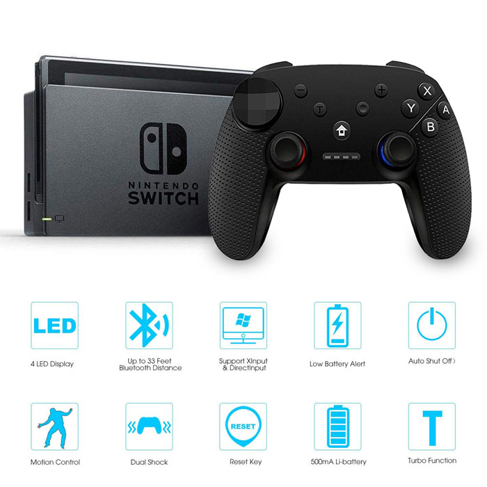 Wireless Switch Pro Game Controller(Black)