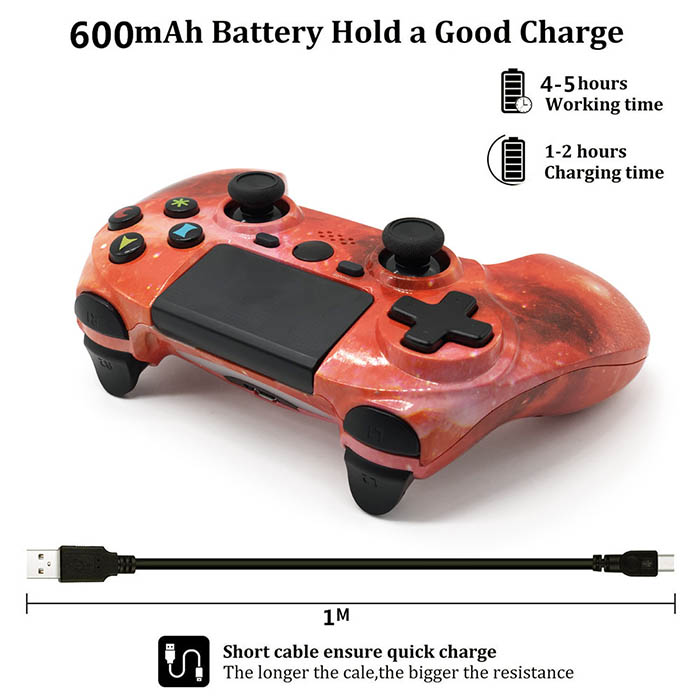 Galaxy Red PS4 Controller